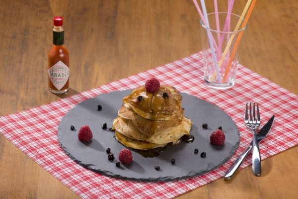 Pancakes with Spicy Maple Syrup