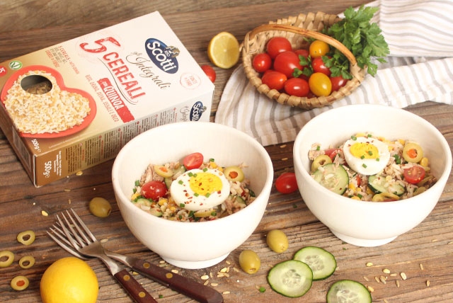 Lagana salata s tunom i rižom