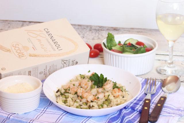 Povrtni rižoto s gamberima