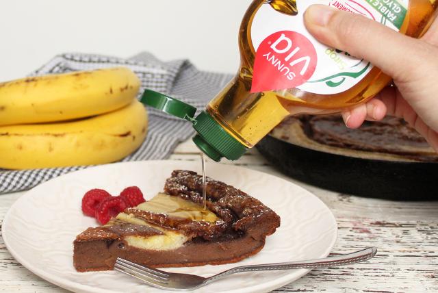 cokoladni clafoutis_banana_agava