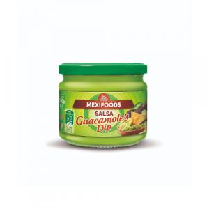 Gotov meksički guacamole umak od avokada i paprika, savršen kao dodatak nachosima ili tortiljama.