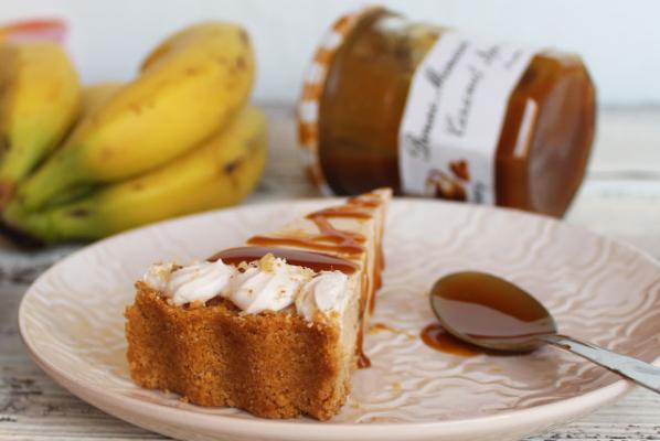 Pita s bananama i Bonne Maman karamel kremom.
